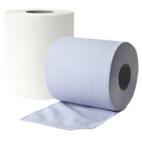 2 Ply White Centre-Feed Roll