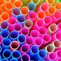 Multi-Coloured Drinking Straws