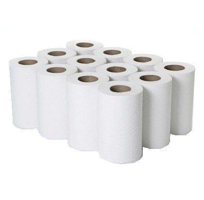 1 Ply White Mini Centre-Feed Rolls