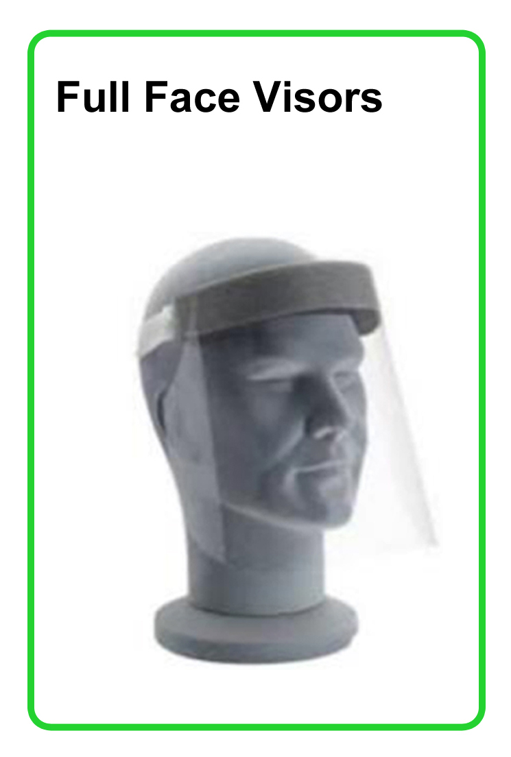 Plastic face shield 1x1