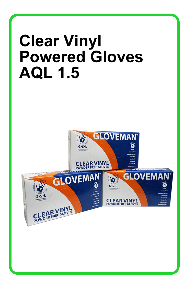 Clear Vinyl Powder Free Gloves 1x10