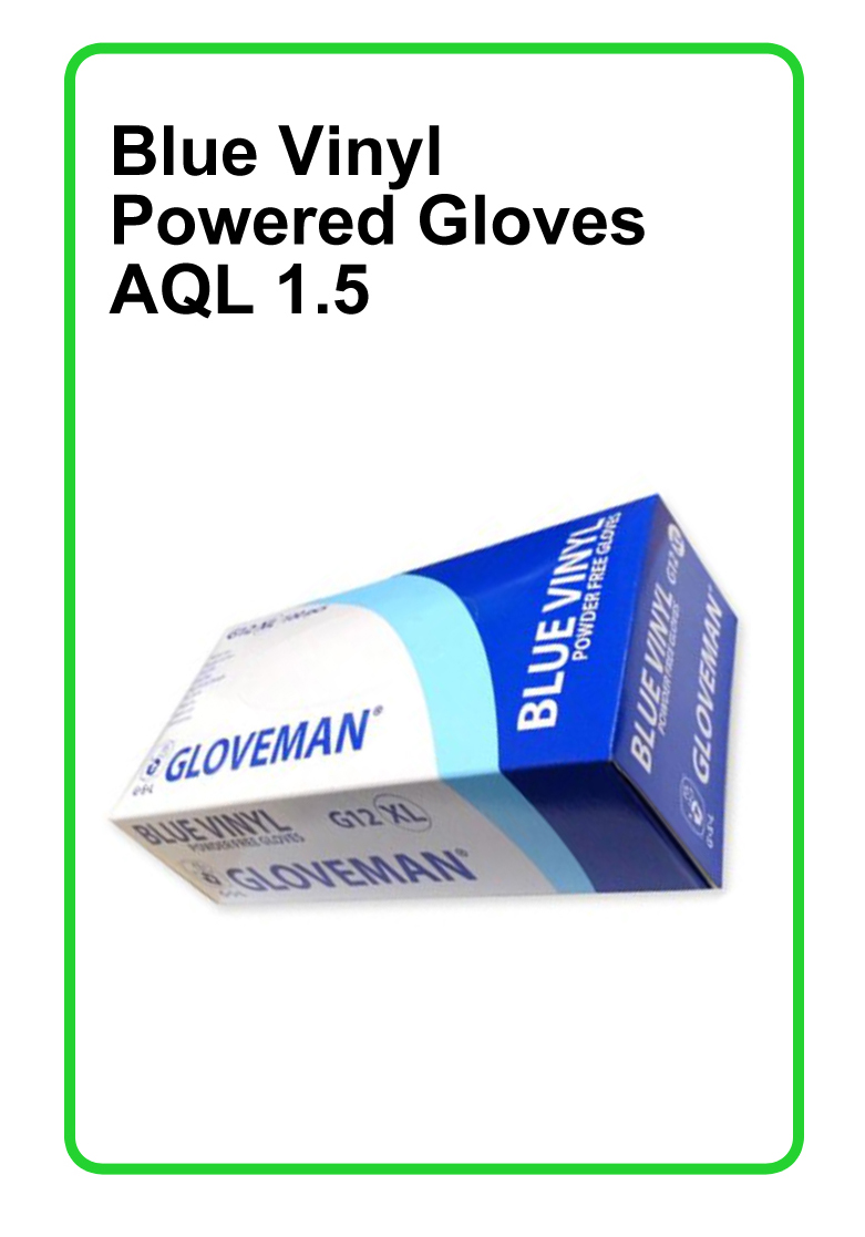 Blue Vinyl Powder Free Gloves 1x10