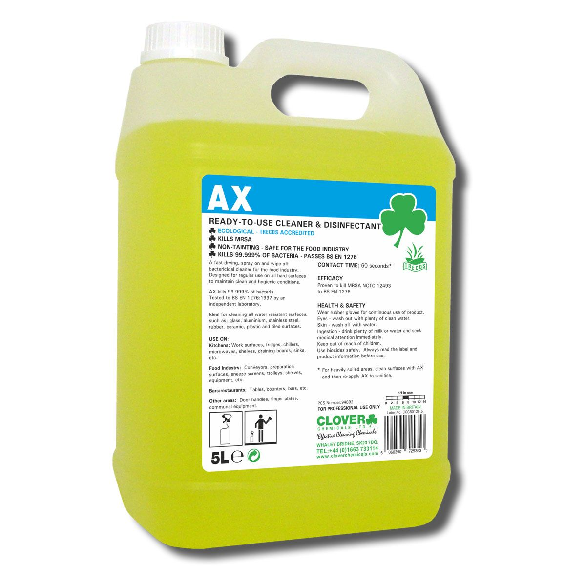 CLOVER: AX Bactericidal Cleaner Disinfectant