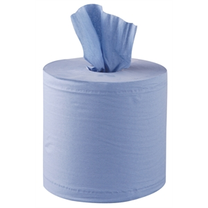 2 Ply Blue Centrefeed Embossed