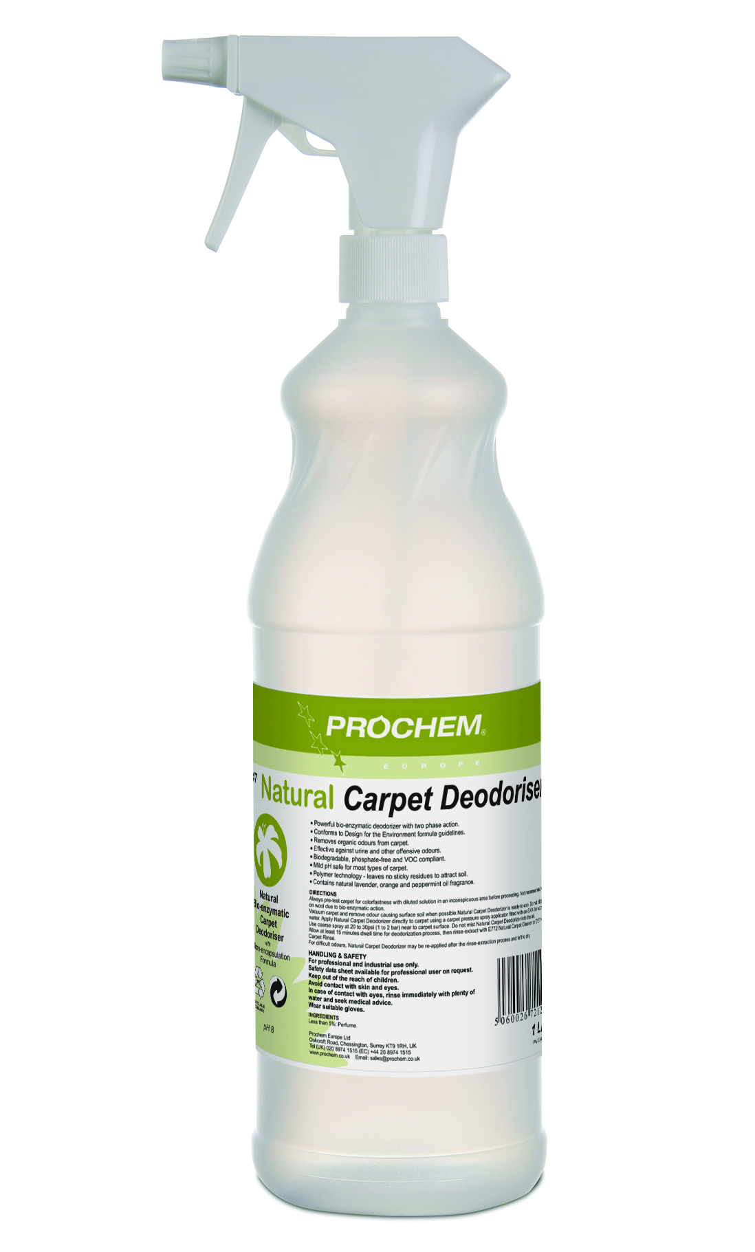 Natural Carpet  Deodoriser 1 x 1 Ltr