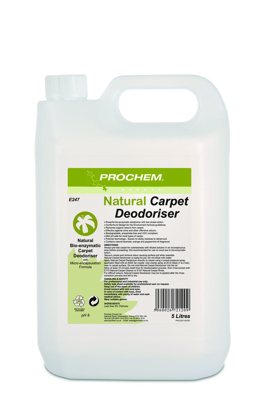 Natural Carpet  Deodoriser 1 x 5 Ltr