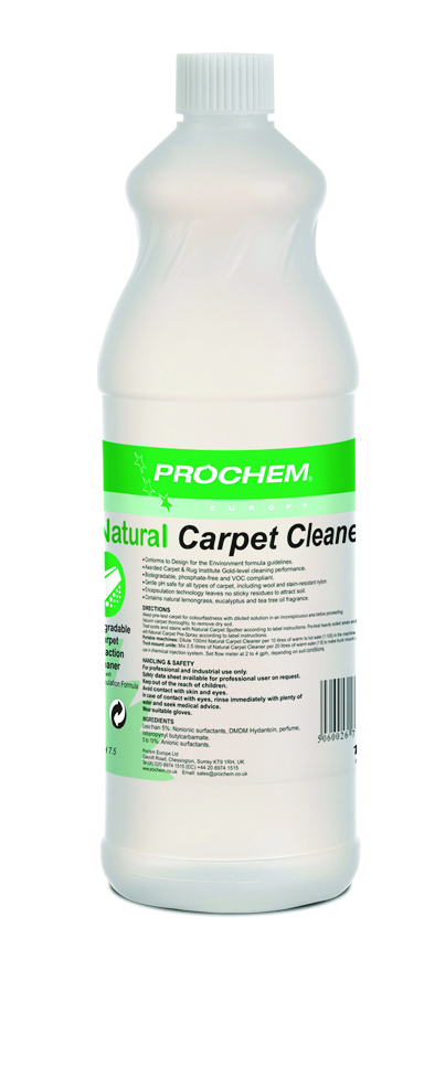 Natural Carpet Cleaner 1 x 1 Ltr