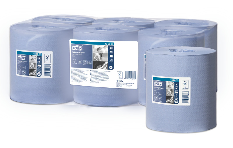 Tork Wiping Paper Blue 130035