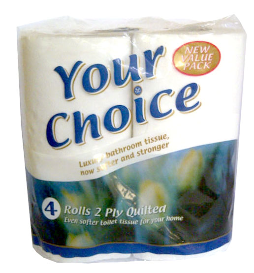 Your Choice : Premium White Toilet Tissue - 10x4 Pack