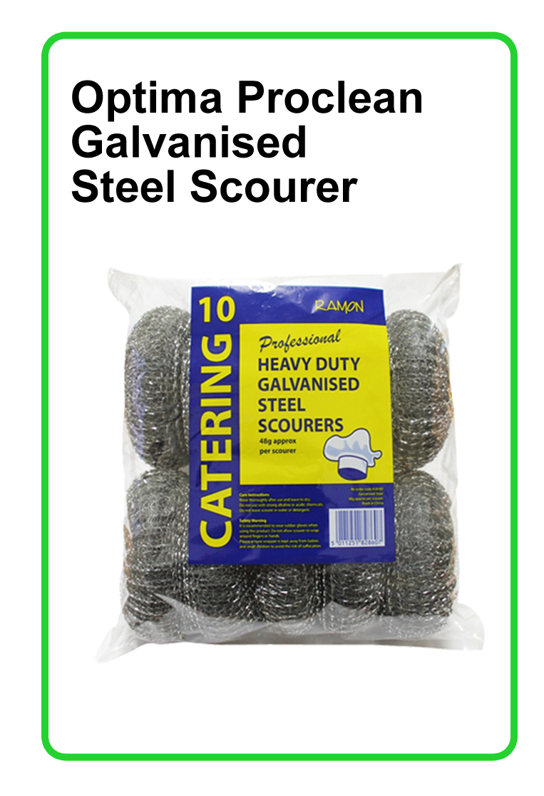 Ramon: Optima Proclean Galvanised Steel Scourer