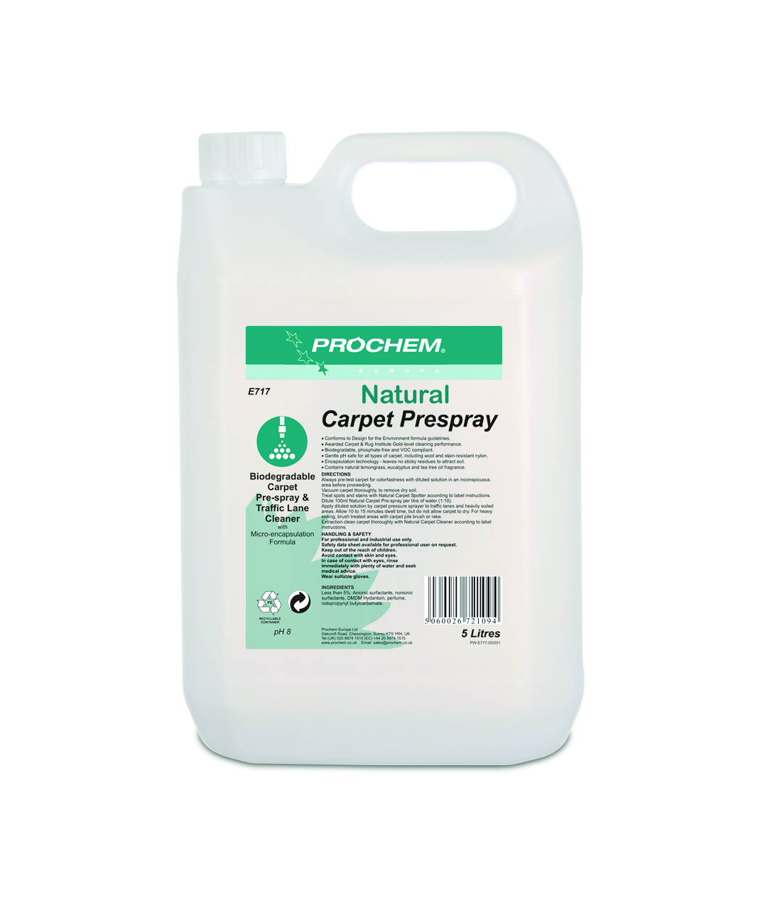 PROCHEM Natural Carpet & Upholstery Prespray 5L